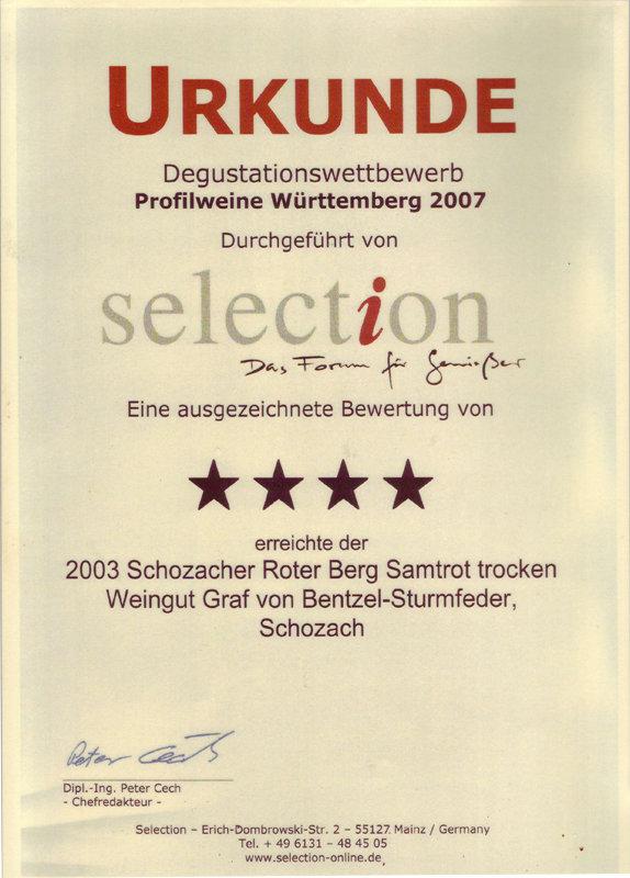 2003 Schozacher Roter Berg Samtrot