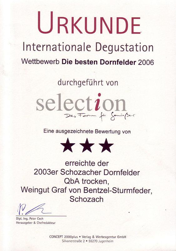 2003 Schozacher Dornfelder QbA trocken