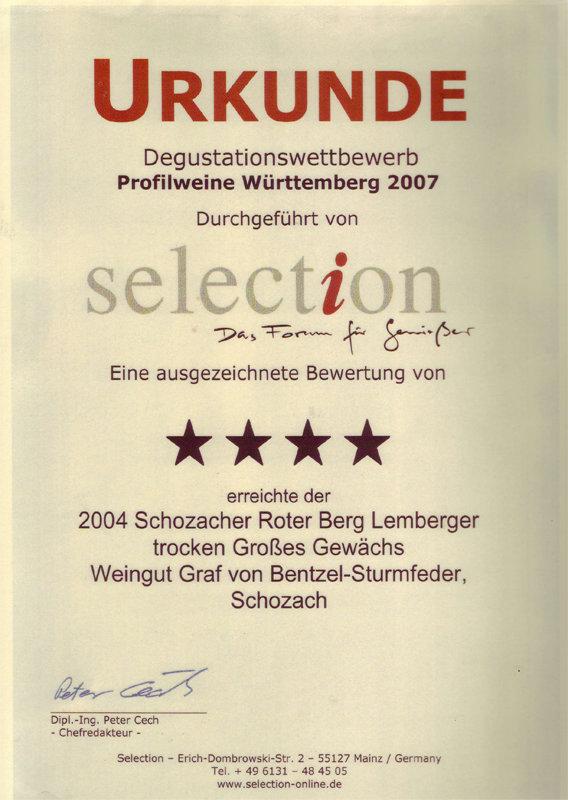 2004 Schozacher Roter Berg Lemberger GG