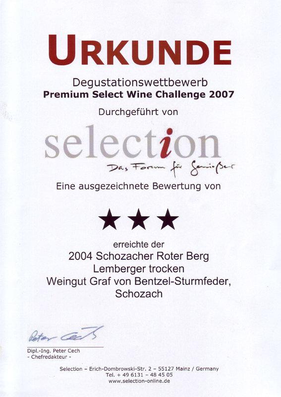 2004 Schozacher Roter Berg Lemberger trocken