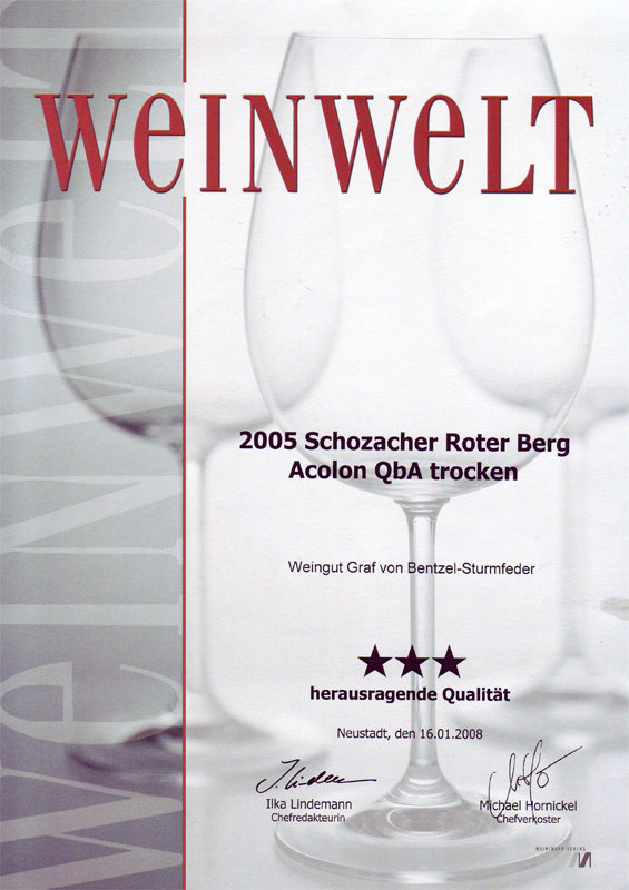 2005 Schozacher Roter Berg Acolon QbA