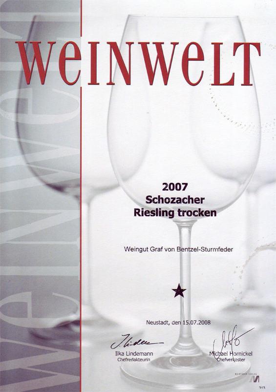 2007 Schozacher Riesling trocken