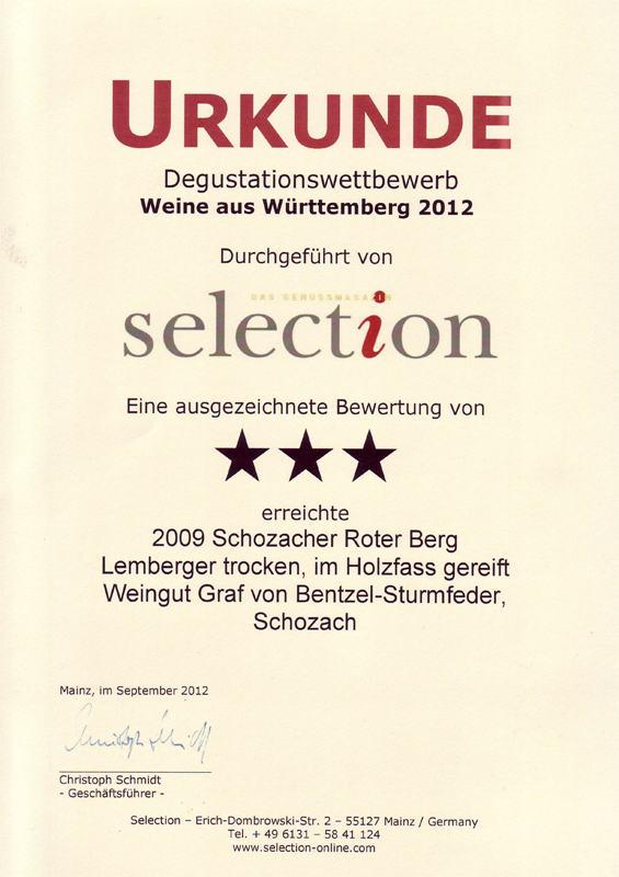 2009 Schozacher Roter Berg Lemberger