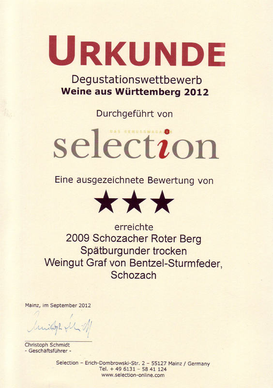2009 Schozacher Roter Berg Spätburgunder