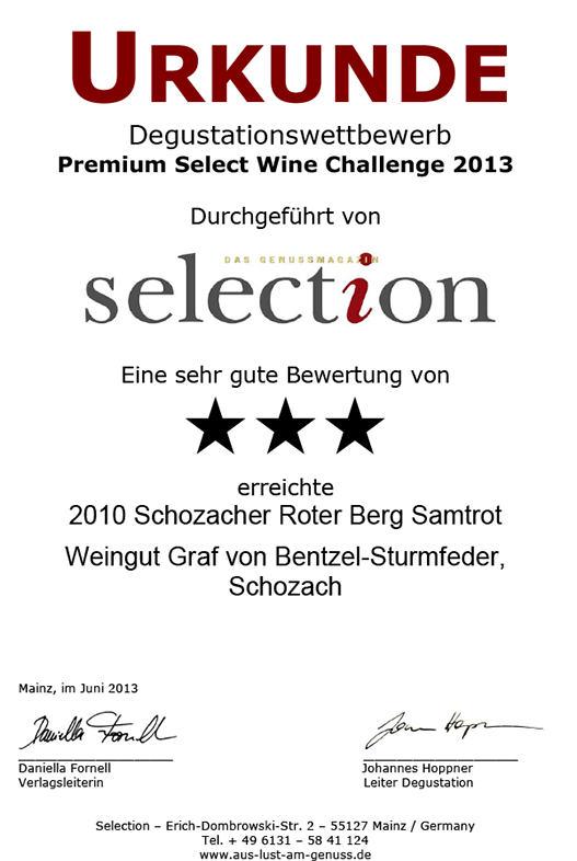 2010 Schozacher Roter Samtrot