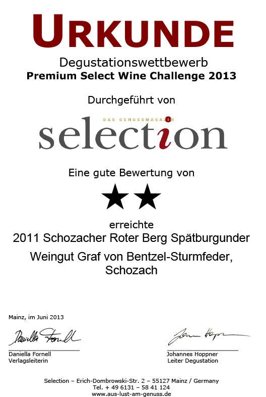 2011 Schozacher Roter Berg Spätburgunder